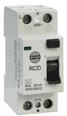WYLEX WRDS80/2  2P 30Ma 80A Dc Type A Rcd